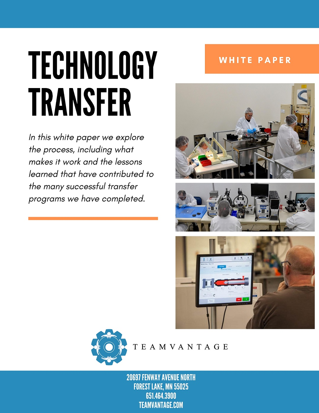 Technology Transfer Cover Page
